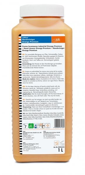 ZVG-zetClean-Hand-/Hände-Reiniger, Handreiniger Orange Premium, 1 Liter
