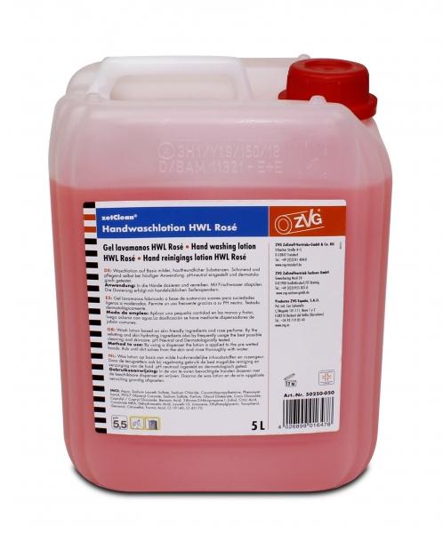 ZVG-zetClean-Hand-/Hände-Reiniger, Handwaschlotion, Rosé, VE: 4 Kanister á 5 Liter