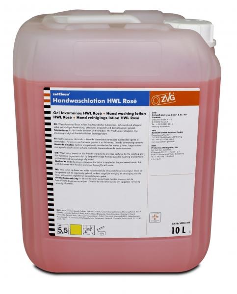 ZVG-zetClean-Hand-/Hände-Reiniger, Handwaschlotion, Rosé, VE: 10-l-Kanister