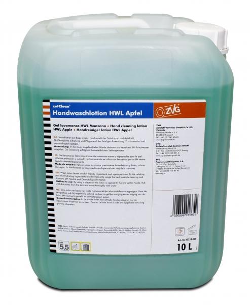ZVG-zetClean-Hand-/Hände-Reiniger, Handwaschlotion, HWL Apfel, grün, VE: 10-l-Kanister