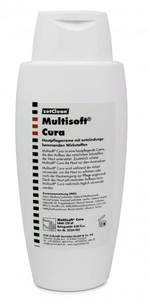 ZVG-zetClean-Hand-/Haut-Schutz-Pflege, Hautpflegecreme Multisoft Cura,VE: 24 Flaschen a 250 ml