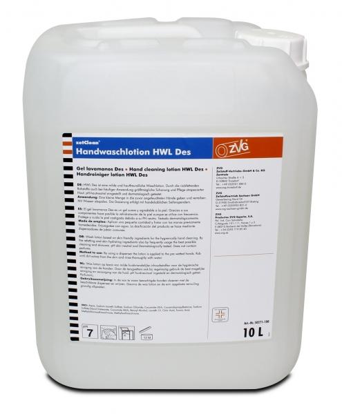 ZVG-zetClean-Hand-/Haut-Schutz-Pflege, Handwaschlotion Neutral Des, desinfizierend, VE: 10-l-Kanister