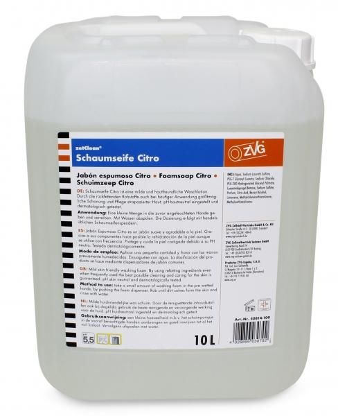 ZVG-zetClean-Hand-/Hände-Reiniger, Schaumseife Citro, 10 Liter