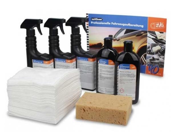 Professionelle Fahrzeugaufbereitung, Eimer inkl. Reinigungsmittel und Zubehör