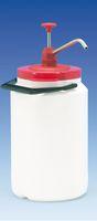 Dosierpumpe aus Edelstahl mit Wandhalterung Edelstahl für 3-Liter-Kanne
