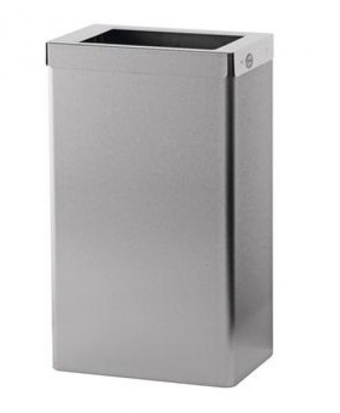 ZVG-zetPutz-Abfallbox-Behälter aus Edelstahl-geschliffen, ca. 22 l, VE: 1 Stück