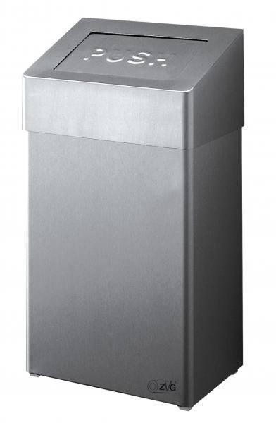 ZVG-zetPutz-Abfallbox-Behälter aus Edelstahl, geschliffen, ca. 50 l, VE: 1 Stück