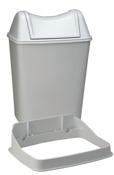 ZVG-zetPutz-Abfalleimer, Behälter aus Kunststoff  in weiß, ca. 8 l, VE: 12 Stück