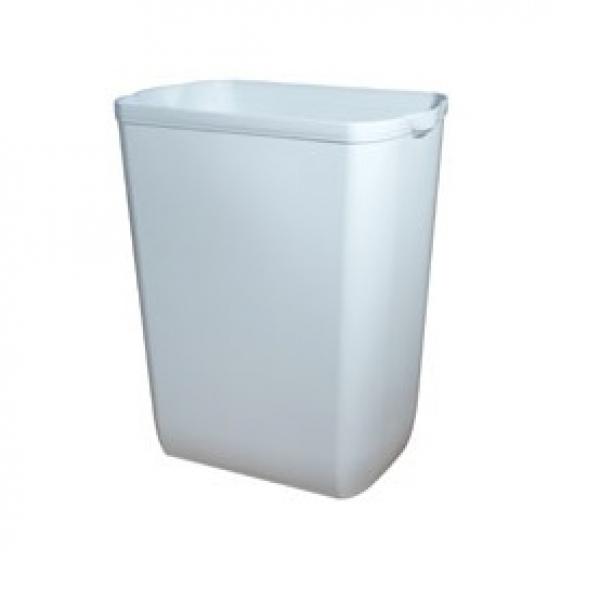 ZVG-zetPutz-Abfalleimer, aus Kunststoff in weiß, ca. 43 l, VE: 6 Stück