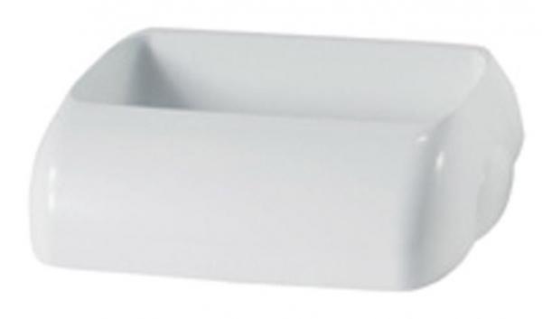 ZVG-zetPutz-Einwurfdeckel aus Kunststoff, weiß, f. 43 l Abfalleimer, VE: 6 Stück