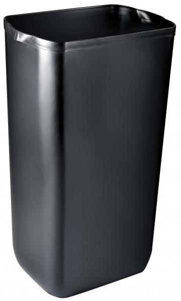 ZVG-zetPutz-Abfalleimer f. Wand- oder Boden-Montage, schwarz, aus Kunststoff, VE: 6 Stück