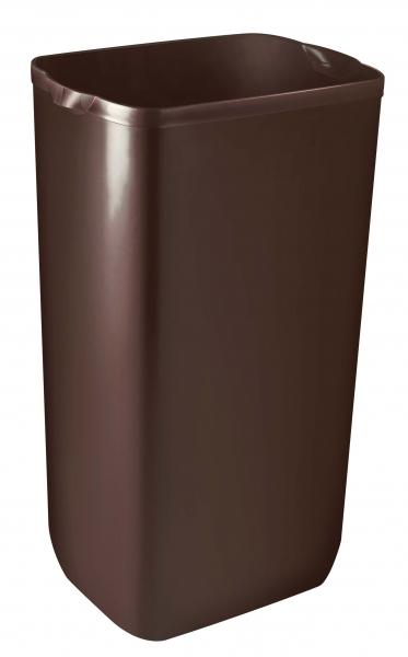 ZVG-zetPutz-Abfalleimer f. Wand- oder Boden-Montage, braun, aus Kunststoff, VE: 6 Stück
