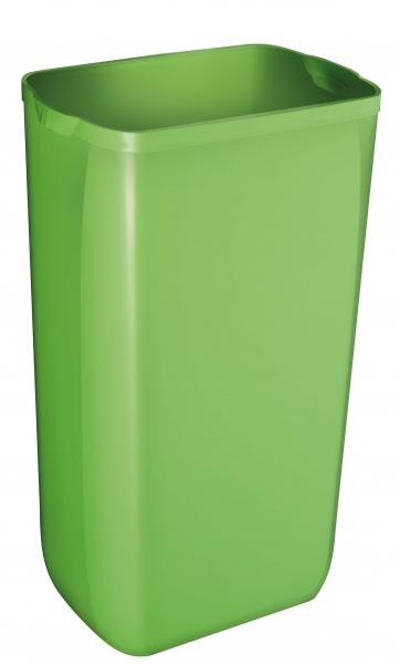 ZVG-zetPutz-Abfalleimer f. Wand- oder Boden-Montage, grün, aus Kunststoff, VE: 6 Stück