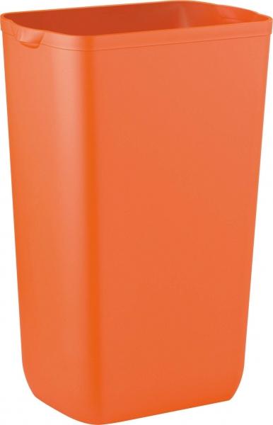 ZVG-zetPutz-Abfalleimer f. Wand- oder Boden-Montage, orange, aus Kunststoff, VE: 6 Stück