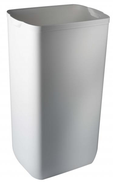 ZVG-zetPutz-Abfalleimer f. Wand- oder Boden-Montage, weiß, aus Kunststoff,VE: 6 Stück