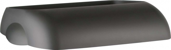ZVG-zetPutz-Einwurfdeckel für Abfalleimer, schwarz, aus Kunststoff, VE: 6 Stück