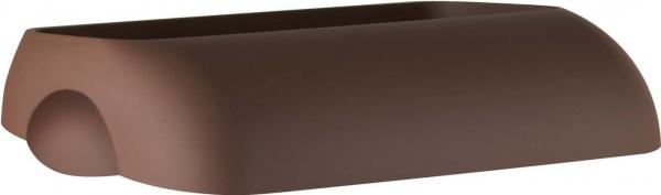 ZVG-zetPutz-Einwurfdeckel für Abfalleimer, braun, aus Kunststoff, VE: 6 Stück