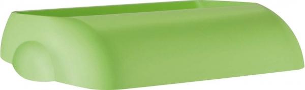 ZVG-zetPutz-Einwurfdeckel für Abfalleimer, grün, aus Kunststoff, VE: 6 Stück