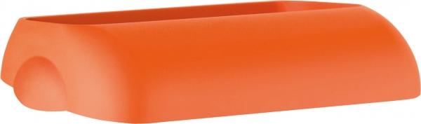 ZVG-zetPutz-Einwurfdeckel für Abfalleimer, orange, aus Kunststoff, VE: 6 Stück