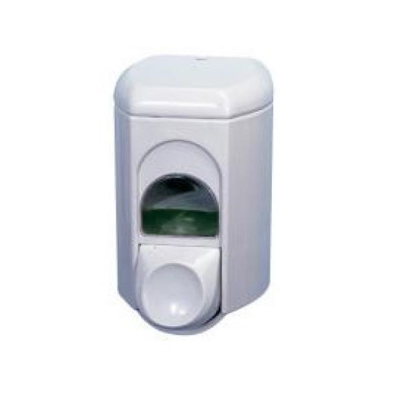 Seifenspender aus Kunststoff, weiß, ca. 350 ml, VE: 12 Stück