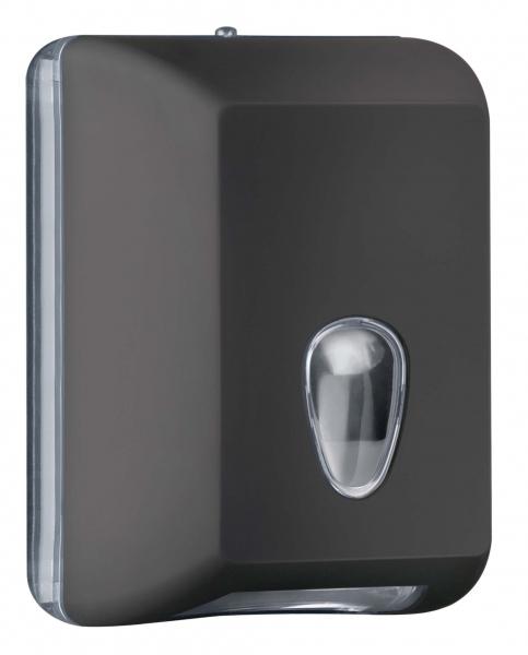 ZVG-zetPutz-Luxury Toilettenpapier-Spender, schwarz aus Kunststoff, VE: 6 Stück