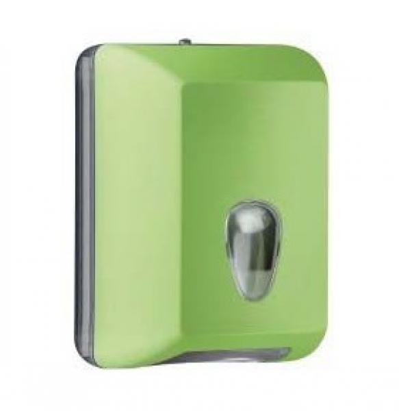 ZVG-zetPutz-Luxury Toilettenpapier-Spender, grün aus Kunststoff, VE: 6 Stück