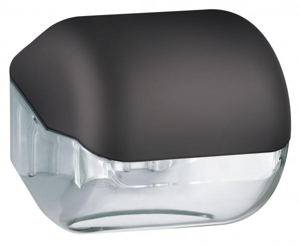 ZVG-zetPutz-Toilettenpapier-Spender, schwarz aus Kunststoff, VE: 12 Stück
