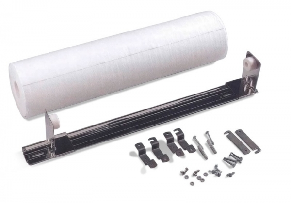 AMPRI-Hygiene, Ärzterollen-Halter für 39 - 60 cm Rollenbreite,  Papier-Liegen-Abdeckungen-Auflagen, VE: 1 Stück