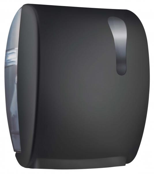 ZVG-zetPutz-Rollen-Handtuch-Spender, schwarz aus Kunstoff,  VE: 1 Stück