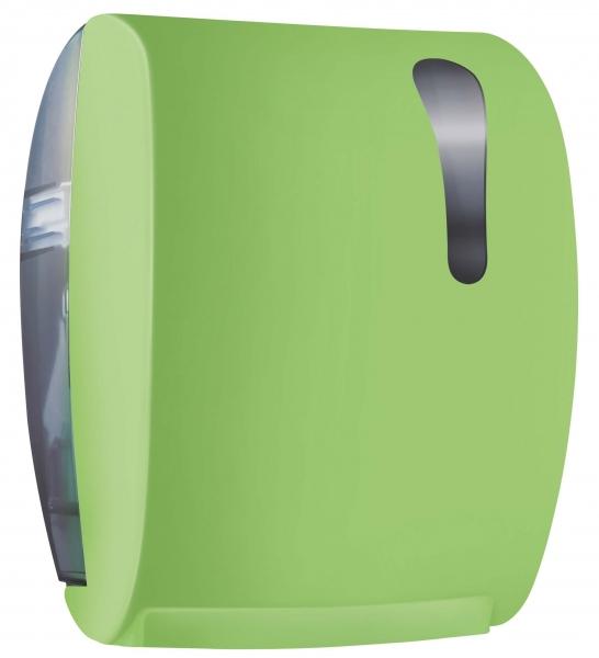 ZVG-zetPutz-Rollen-Handtuch-Spender, grün aus Kunstoff,  VE: 1 Stück