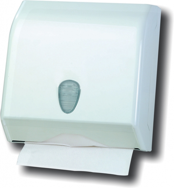 ZVG-zetPutz-Falt-Handtuch-Spender, Kunststoff, weiß, VE: 6 Stück