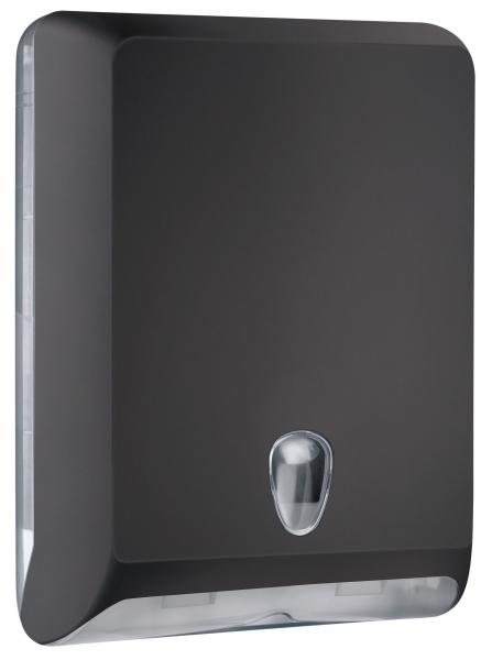 ZVG-zetPutz-Falt-Handtuch-Spender, groß, schwarz aus Kunststoff, VE: 1 Stück