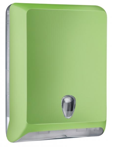 ZVG-zetPutz-Falt-Handtuch-Spender, groß, grün aus Kunststoff, VE: 1 Stück