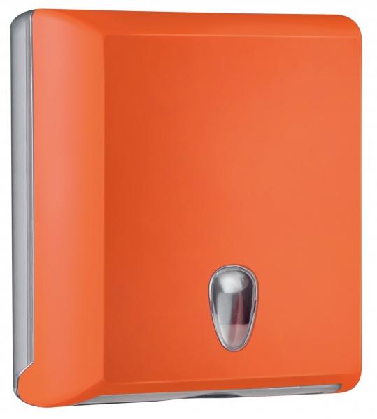 ZVG-zetPutz-Falt-Handtuch-Spender, groß, orange aus Kunststoff, VE: 1 Stück