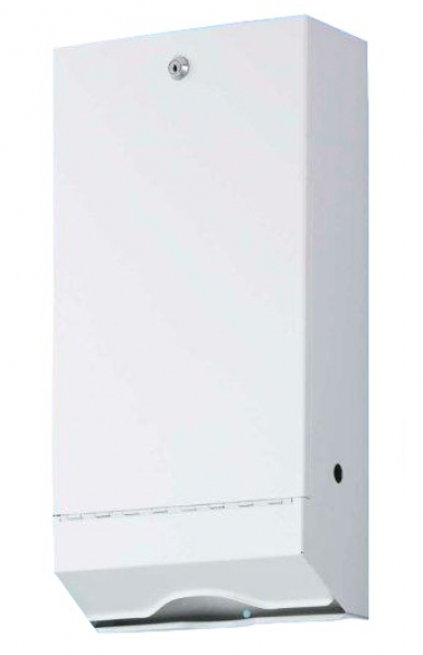 ZVG-zetPutz-Falt-Handtuch-Spender, Übergröße, Stahlblech, weiß lackiert, VE: 1 St.