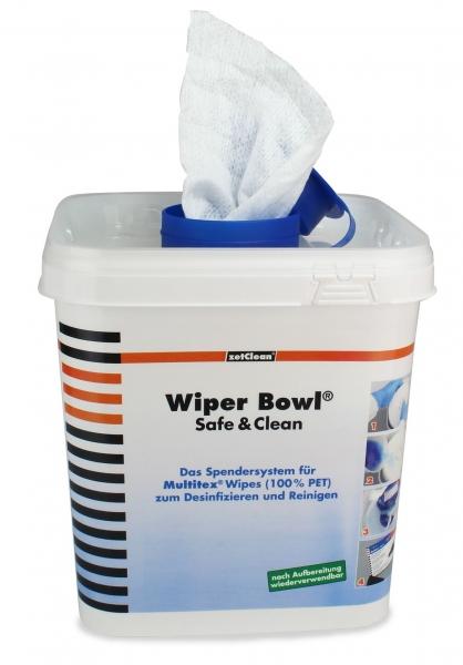 ZVG-zetPutz-Zubehör, Spender-Eimer, ECKIG, für Wi Bowl Safe & Clean