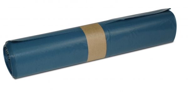 ZVG-zetMatic-Abfall-Säcke-Müll-Beutel, Müllsäcke, blau, ca. 120 l, Typ 60, VE: 250 Stück (10x25)