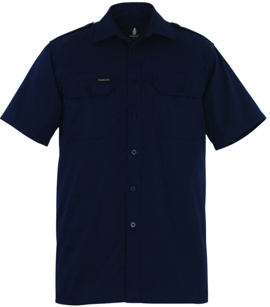 MASCOT-Workwear-Arbeits-Berufs-Hemd, SAVANNAH, ca. 205 g/m², marine