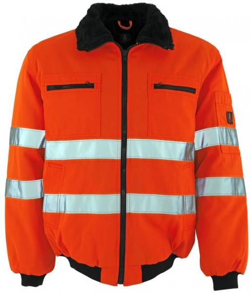 MASCOT-Workwear-Warn-Schutz-Piloten-Arbeits-Berufs-Jacke, ALASKA, MG300, orange