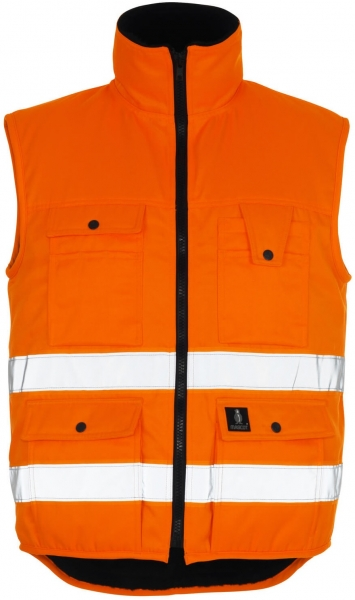 MASCOT-Workwear-Warn-Schutz, Arbeits-Sicherheits-Berufs-Weste, Winterweste, SÖLDEN, MG300, orange