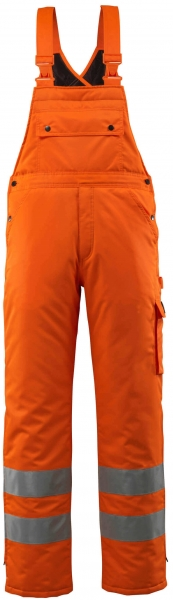 MASCOT-Workwear-Warn-Schutz-Winter-Arbeits-Berufs-Latz-Hose, LECH, orange