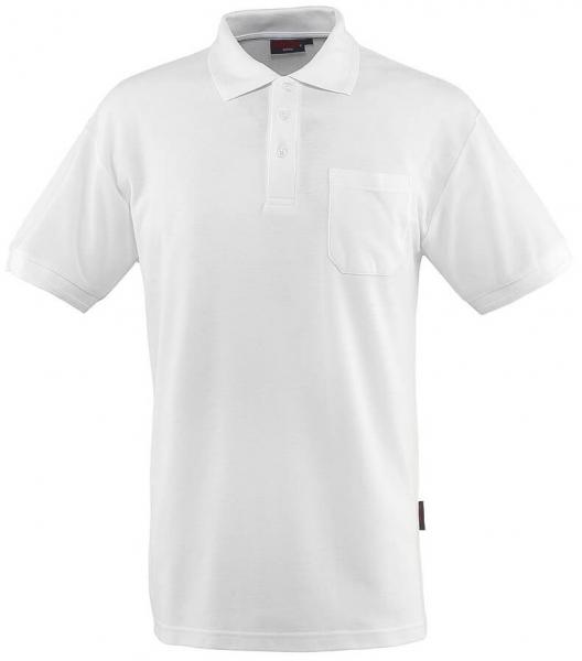 MASCOT-Workwear-Polo-Shirt, BORNEO, MG180, weiß