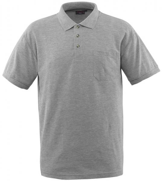 MASCOT-Workwear-Polo-Shirt, BORNEO, MG180, grau-meliert