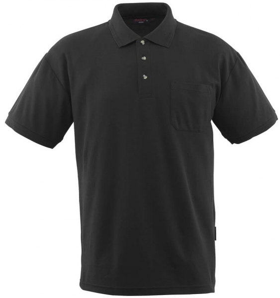 MASCOT-Workwear-Polo-Shirt, BORNEO, MG180, schwarz