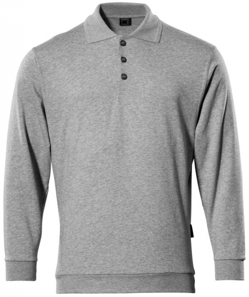 MASCOT-Workwear-Arbeits-Berufs-Polo-Sweatshirt, TRINIDAD, MG310, grau-meliert