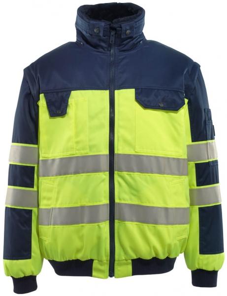 MASCOT-Workwear, Warnschutz-Multifunktionsjacke, Livigno, 300 g/m², gelb/marine