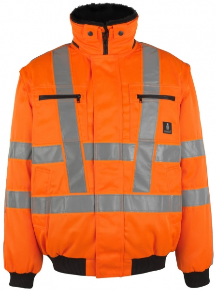 MASCOT-Workwear-Warn-Schutz-Piloten-Arbeits-Berufs-Jacke, INNSBRUCK, MG300, orange