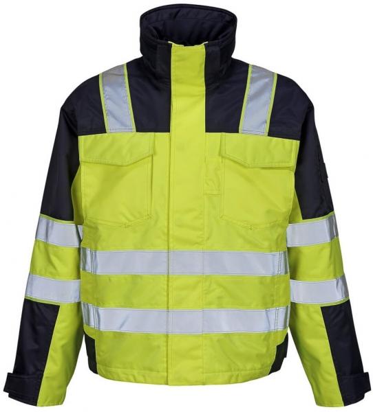 MASCOT-Workwear-Warn-Schutz-Piloten-Arbeits-Berufs-Jacke, GENOVA, gelb/marine