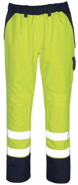 MASCOT-Workwear-Warn-Schutz-Überzieh-Arbeits-Berufs-Bund-Hose, LINZ, gelb/marine