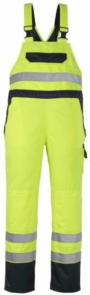 MASCOT-Workwear, Warnschutz-Überziehlatzhose, Wels, 240 g/m², gelb/marine